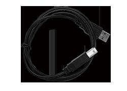 機器の標準USBケーブル。別途購入できます。